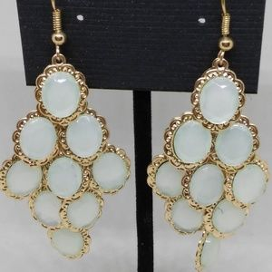 Chandelier Earrings Iridescent Dangle Pierced 1283